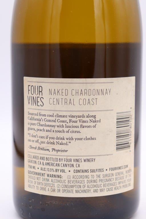 Four Vines - Naked Chardonnay 2018 - Warehouse Wines